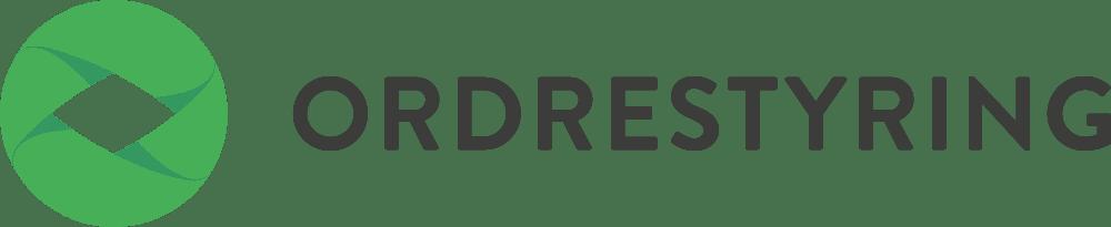 Ordrestyring logo med sort tekst
