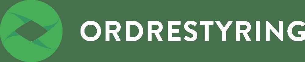 Ordrestyring logo med hvid tekst