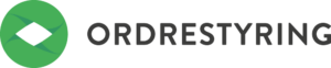 Ordrestyrings logo med sort skrift