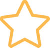 Gul stjerne ikon