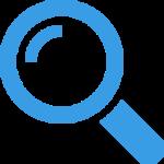 Forstørrelsesglas ikon