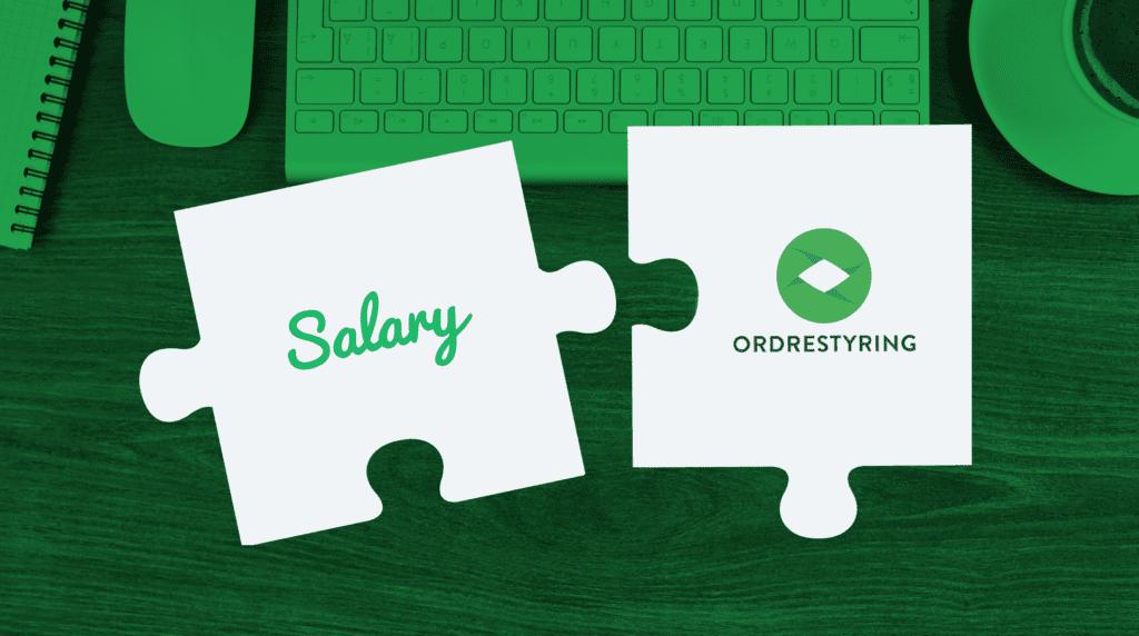 To puslespilsbrikekr der viser at Ordrestyring og Salary integrerer