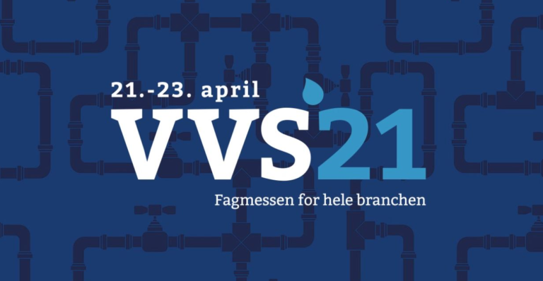 VVS´21 banner - Fagmessen for hele branchen - 21.23. april