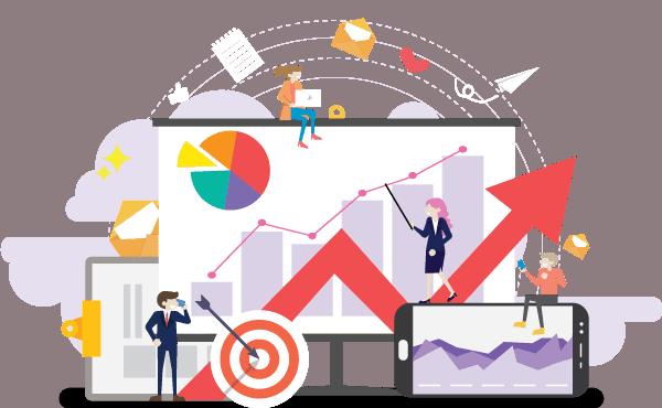 graphic om success og teamwork