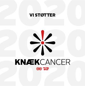 Vi støtter Knæk Cancer logo