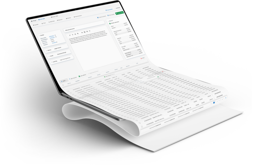 Ordrestyring os3 invoicing