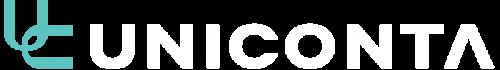 Hvidt uniconta logo